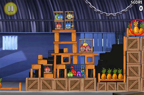 Ananas d'or caché 5 d'Angry Birds RIO