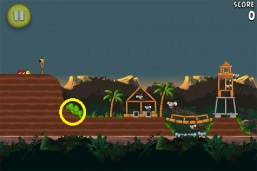 Banane d'or cachéé 11 d'Angry Birds RIO
