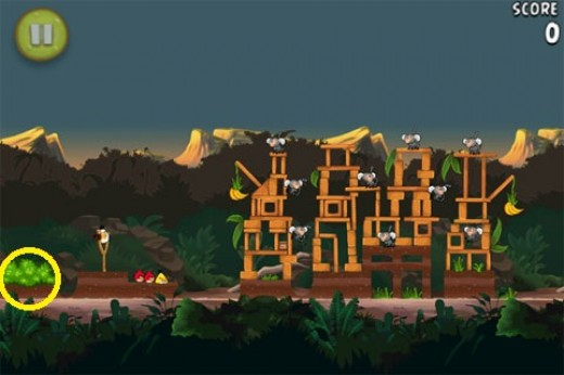 Banane d'or cachée 12 d'Angry Birds RIO