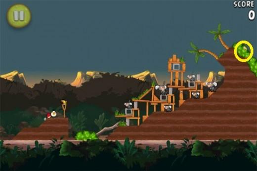 Banane en or cachée 3 du jeu Angry Birds Rio