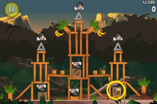 Banane d'or cachée 5 d'Angry Birds RIO
