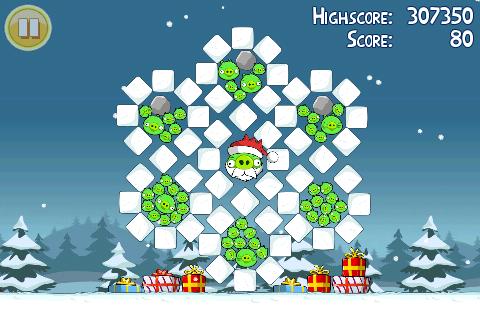 Niveau bonus de l'oeuf d'or 1 d'Angry Birds Noël