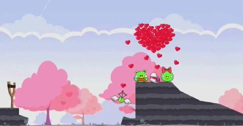 Niveau bonus de l'oeuf d'or 2 d'Angry Birds Saint-Valentin