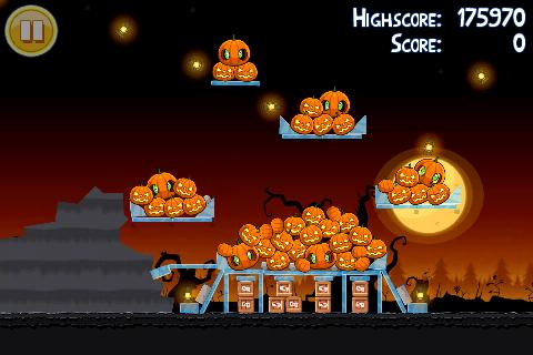 Niveau bonus oeuf d'or 3 étoiles Angry Birds Halloween