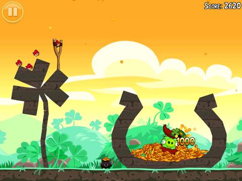 Niveau bonus 2 de l'oeuf d'or d'Angry Birds Saint Patrick