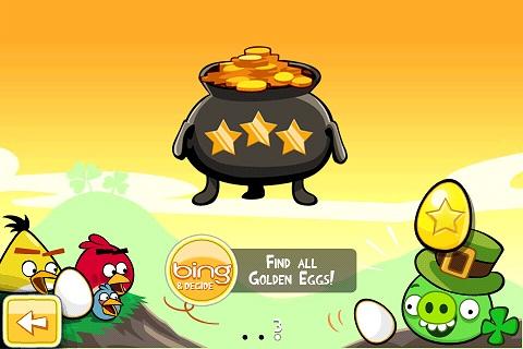 Chaudron de l'oeuf d'or 2 d'Angry Birds Saint Patrick