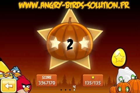Oeuf d'or 3 étoiles d'Angry Birds Seasons Halloween