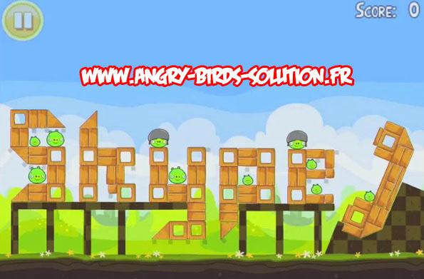 Niveau bonus Easter egg 14 d'Angry Birds Pâques