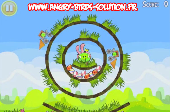 Niveau bonus de l'easter egg 17 d'Angry Birds Seasons : Easter
