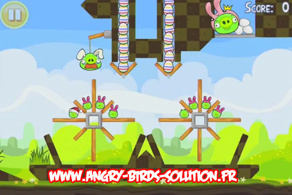 Niveau bonus 18 d'Angry Birds Seasons Easter