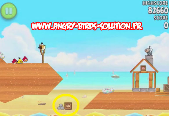 Pastèque d'or cachée 2 d'Angry Birds Rio : Beach Volley