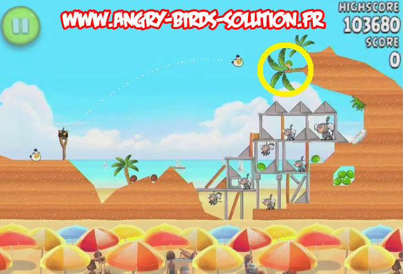Pastèque d'or cachée 4 d'Angry Birds Rio : Beach Volley