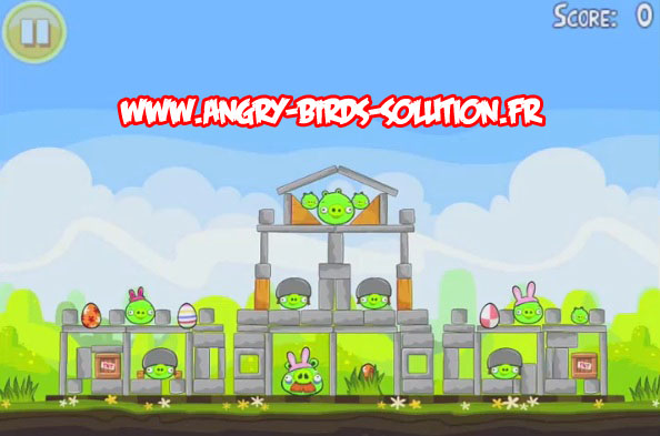 Niveau bonus golden egg 11 d'Angry Birds Easter