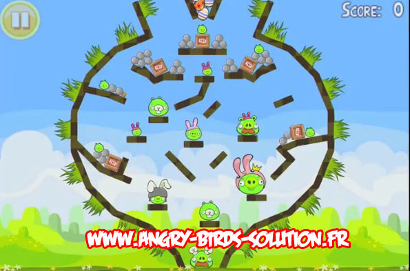 Niveau bonus easter egg 9 d'Angry Birds Seasons