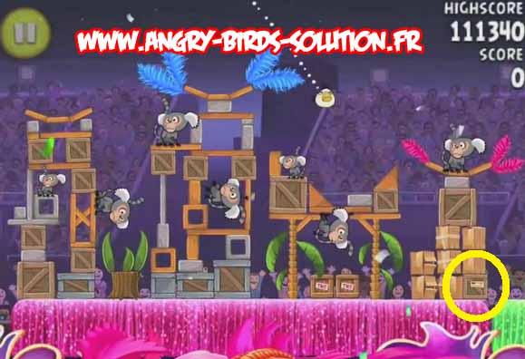 Papaye en or 2 du niveau 7-6 d'Angry Birds Rio