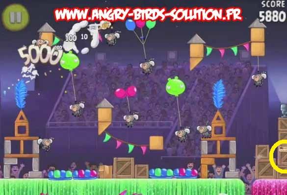 Papaye d'or cachée 7 du niveau 7-15 d'Angry Birds Rio