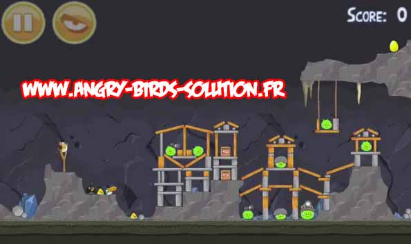Oeuf d'or 23 d'Angry Birds (niveau 15-12)