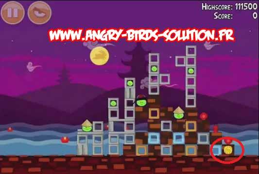 Gâteau de lune en or 1 d'Angry Birds Moon Festival