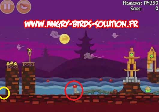 Gâteau de lune en or 8 d'Angry Birds Moon Festival
