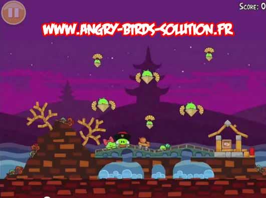 Niveau bonus Golden Mooncakes d'Angry Birds Moon Festival