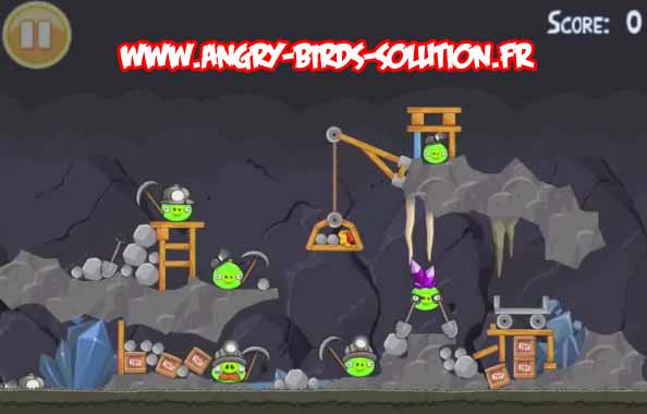Niveau bonus de l'oeuf d'or 25 d'Angry Birds