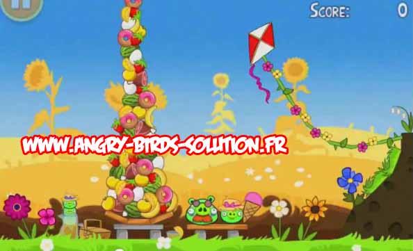 Niveau bonus 3 étoiles d'Angry Birds Summer Pignic