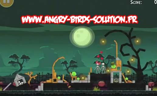 Niveau bonus 3 étoiles : Angry Birds HamOWeen