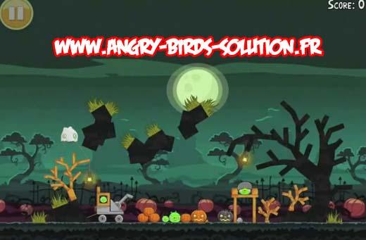 Niveau bonus oeuf d'or 2 d'Angry Birds Ham'O'Ween