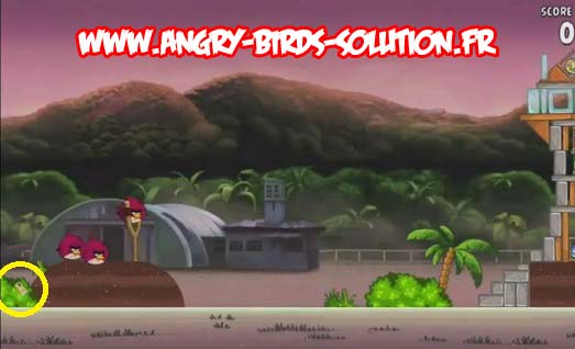 Pomme en or 1 d'Angry Birds RIO (level 9-1)