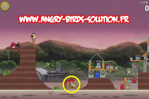 Pomme en or 12 d'Angry Birds Rio (level 10-10)