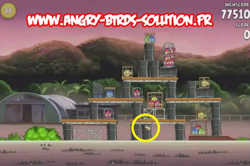 Pomme en or 13 d'Angry Birds Rio (level 10-12)