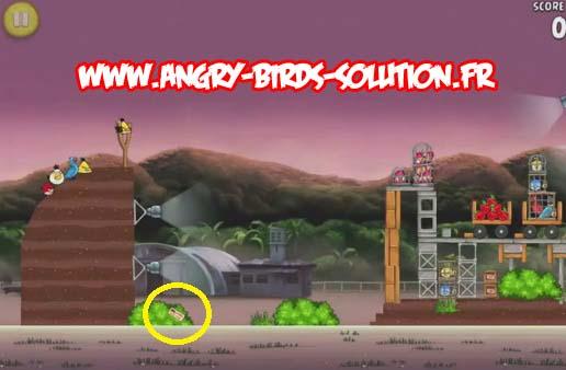 Pomme en or 14 d'Angry Birds Rio (niveau 10-15)