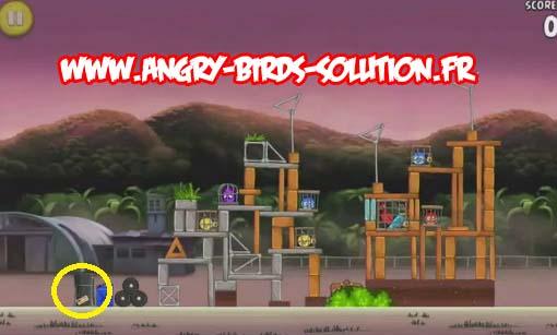 Pomme dorée 5 d'Angry Birds RIO (level 9-9)