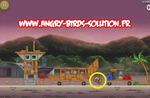 Pomme en or 6 d'Angry Birds RIO (level 9-10)