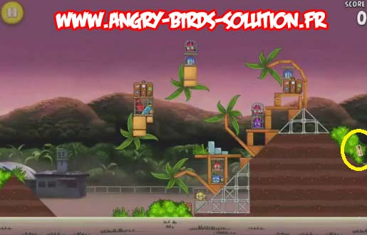 Pomme dorée 7 d'Angry Birds RIO (level 9-14)