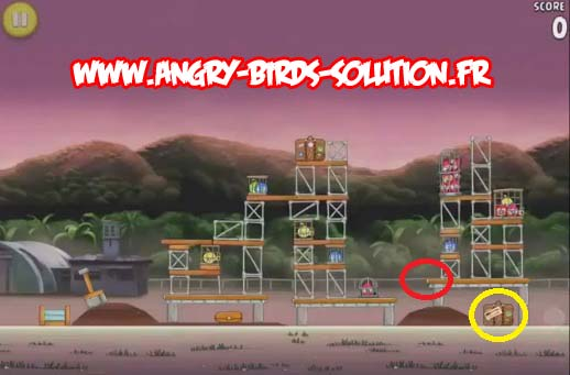 Pomme d'or 9 d'Angry Birds RIO (level 10-4)