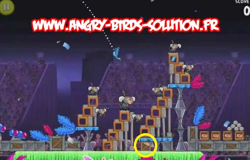 Papaye en or 10 d'Angry Birds RIO (level 8-5)