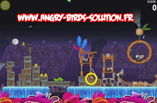 Papaye en or 8 d(Angry Birds RIO (level 8-2)