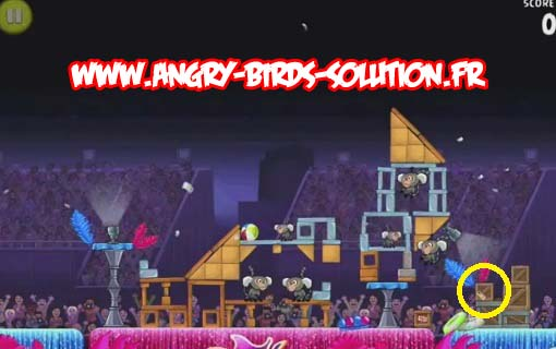 Papaye en or 9 d'Angry Birds RIO (level 8-3)