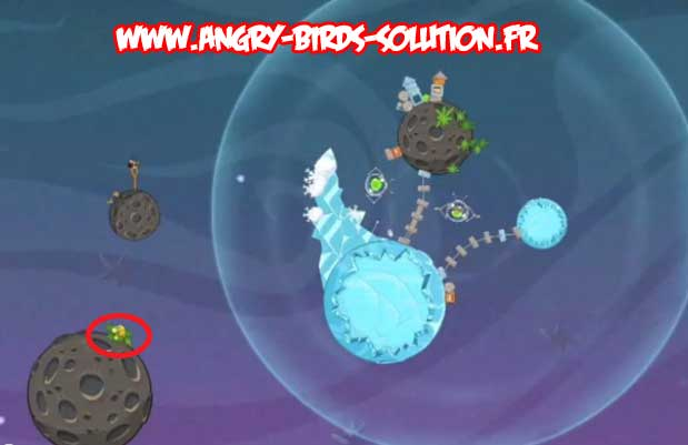 Golden Egg #3 (eggsteroid) d'Angry Birds Space (niveau 2-13)