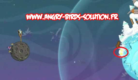 Golden Eggsteroid #5 d'Angry Birds Space (niveau 2-28)