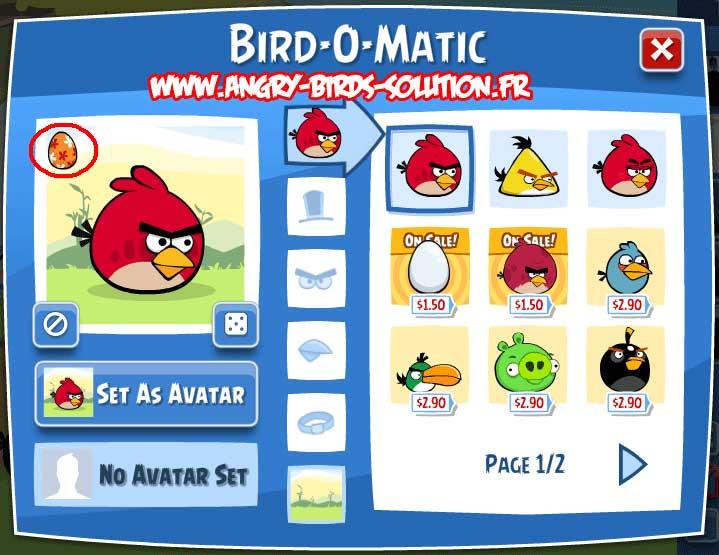 Oeuf de Pâques #2 d'Angry Birds Facebook