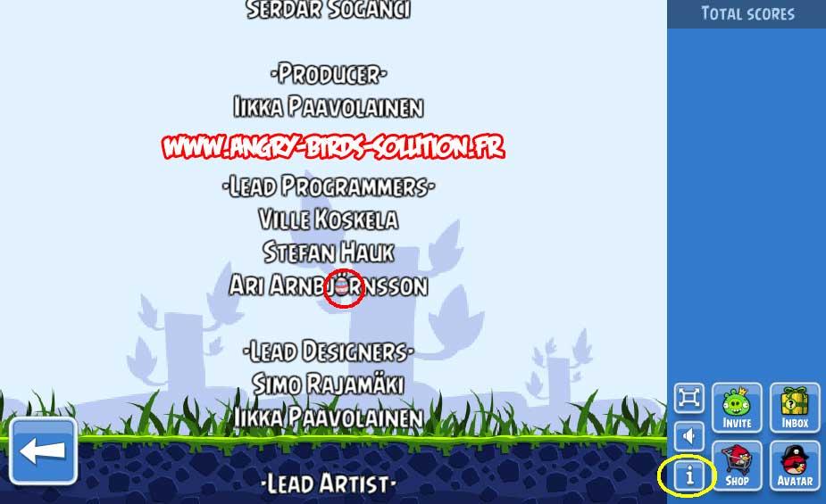 Oeuf de Pâques #3 d'Angry Birds Facebook