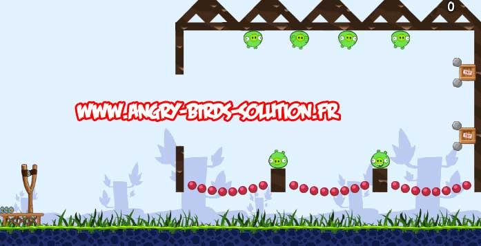Niveau bonus de l'oeuf de Pâques #1 d'Angry Birds Facebook