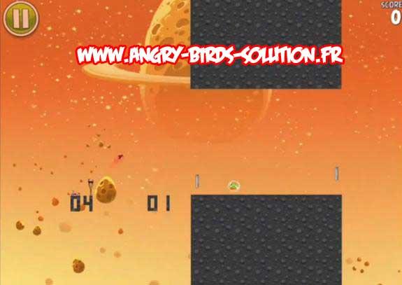"""Niveau bonus """"Pong"""" du Golden Eggsteroids #6 d'Angry Birds Space"""