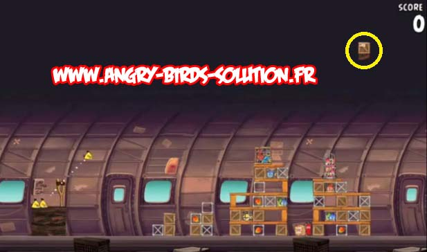 Soluce Mangue en or n°13 d'Angry Birds Rio (level 12-12)