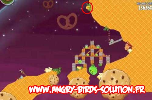 Soluce du Golden Eggsteroid #8 (niveau 4-24 d'Angry Birds Space)