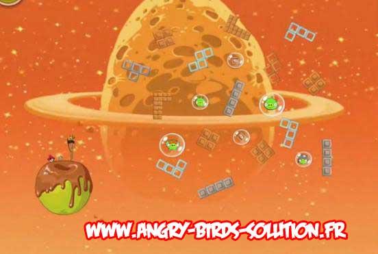 Niveau bonus du Golden Eggsteroid #8 d'Angry Birds Space