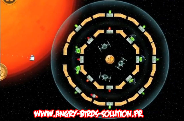 Niveau bonus du Golden Droid #1 d'Angry Birds Star Wars
