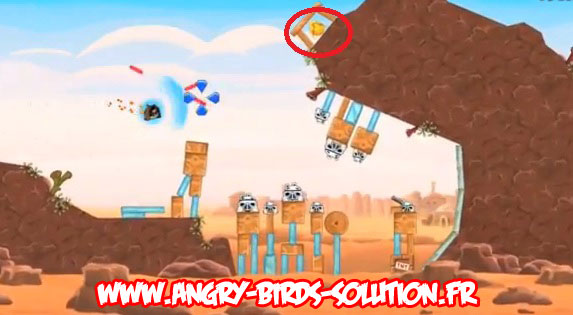 Solution Golden Droid #1 d'Angry Birds Star Wars
